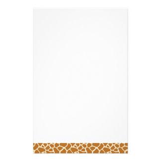 Artigos de papelaria do impressão do girafa