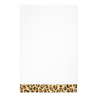 Artigos de papelaria do impressão do leopardo