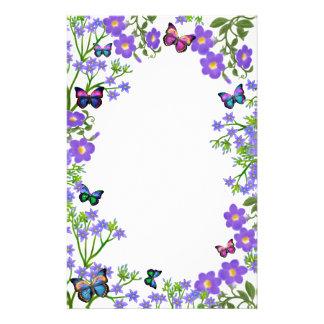 Artigos de papelaria do jardim da borboleta