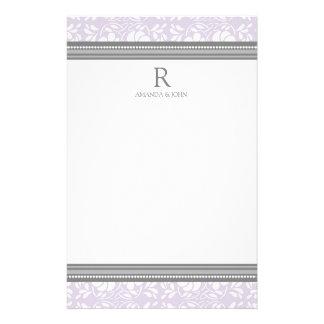 Artigos de papelaria do monograma do casamento do