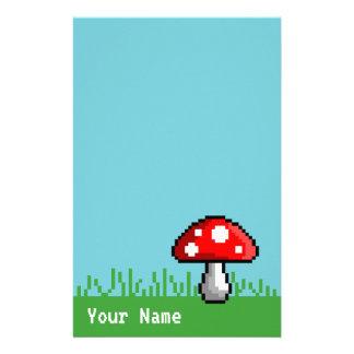 Artigos de papelaria do prado do cogumelo do pixel
