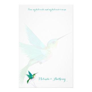 Artigos de papelaria do redemoinho do colibri