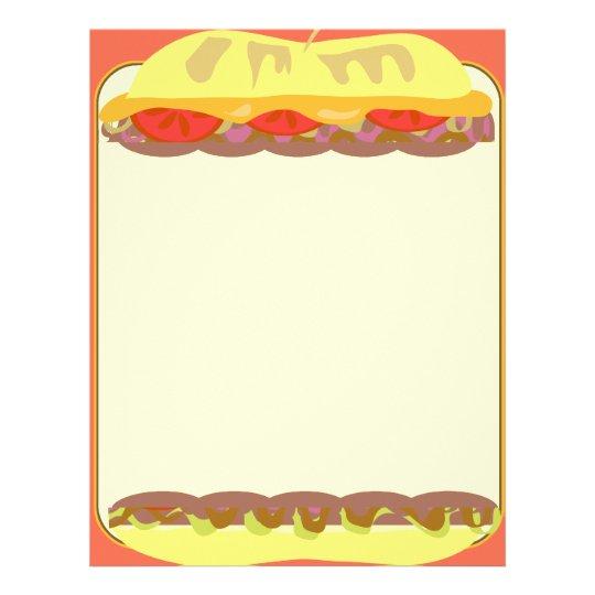 Artigos de papelaria do sanduíche flyer
