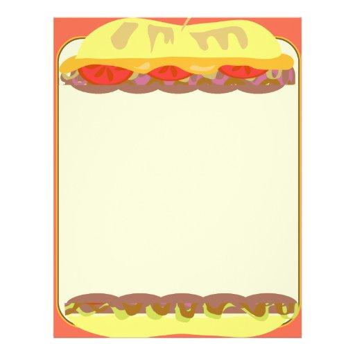 Artigos de papelaria do sanduíche panfleto personalizado