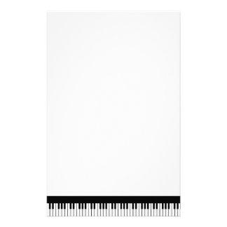 Artigos de papelaria do teclado de piano