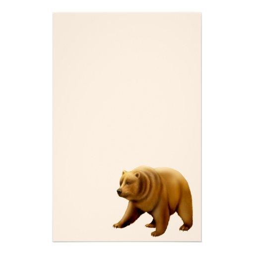 Artigos de papelaria do urso de urso de Brown