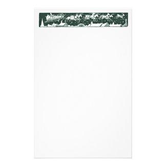 Artigos de papelaria do verde do feriado do papai