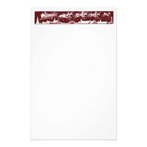 Artigos de papelaria do vermelho do feriado do pap