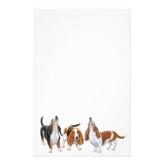 Artigos de papelaria dos cães de Basset