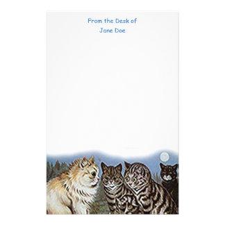 Artigos de papelaria dos gatos do luar de Louis