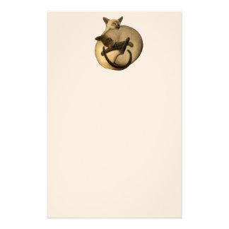 Artigos de papelaria dos gatos Siamese de Yin Yang