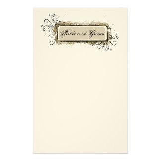 Artigos de papelaria florais abstratos do casament
