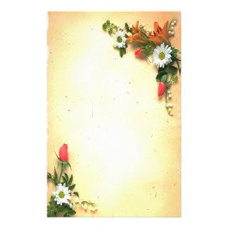 Artigos de papelaria florais bonito do design do