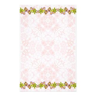 Artigos de papelaria florais do jardim do Victoria