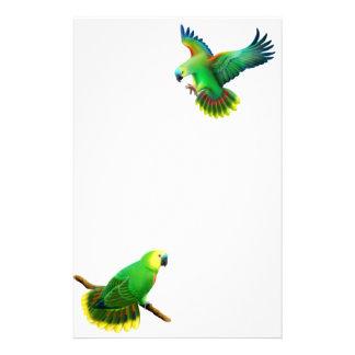 Artigos de papelaria fronteados azuis do papagaio