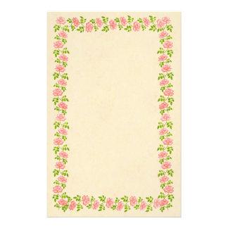Artigos de papelaria ingleses cor-de-rosa dos rosa