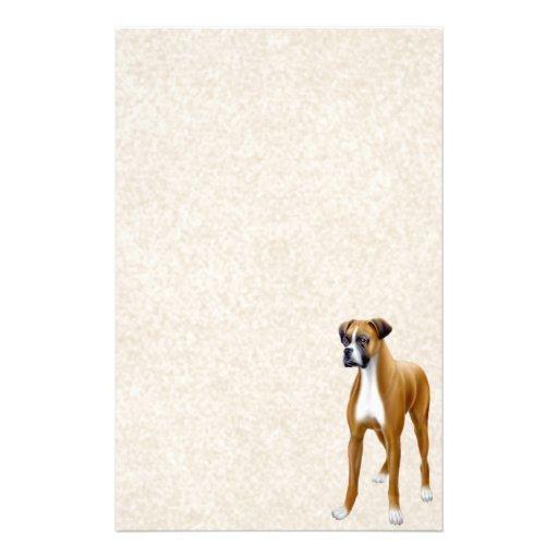 Artigos de papelaria leais do cão do pugilista de