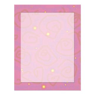 Artigos de papelaria malva do redemoinho modelos de papel de carta