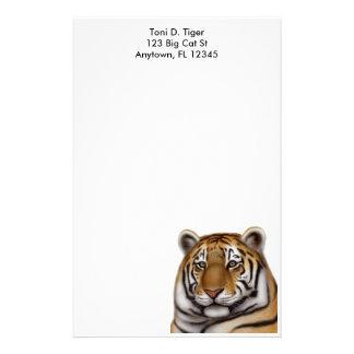 Artigos de papelaria orgulhosos do tigre de Bengal