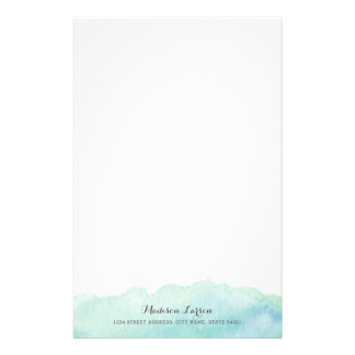 Artigos de papelaria personalizados aguarela de