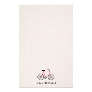 Artigos de papelaria personalizados bicicleta do