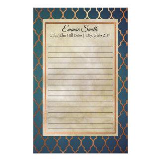 Artigos de papelaria personalizados de Quatrefoil