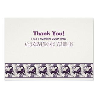 Artigos de papelaria personalizados dinossauro de convite 8.89 x 12.7cm