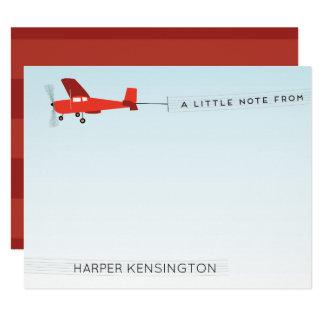 Artigos de papelaria pessoais da bandeira de avião convite 10.79 x 13.97cm