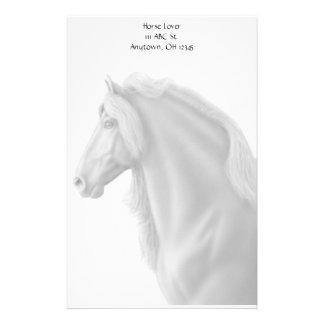 Artigos de papelaria régios do cavalo do frisão