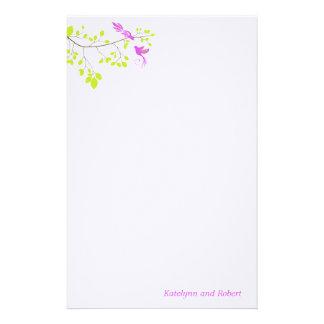 Artigos de papelaria romances violetas do