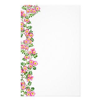 Artigos de papelaria selvagens dos rosas do rosa f