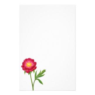 Artigos de papelaria vermelhos da flor da peônia d