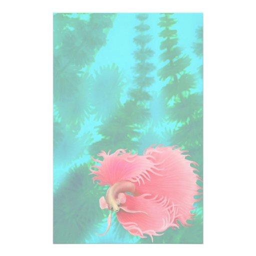 Artigos de papelaria vermelhos dos peixes de Betta