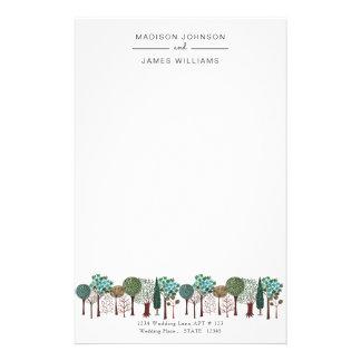 Artigos de papelaria Wedding da floresta | | da
