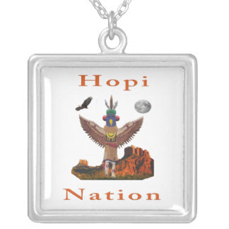 Artigos do indiano do Hopi Colar Com Pendente Quadrado