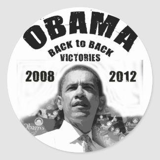 Artigos lado a lado da vitória de Barack Obama Adesivo