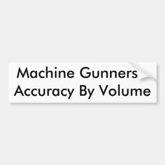 Artilheiros de máquina - precisão pelo volume adesivos