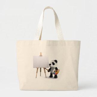 artista da panda do bebê 3d sacola tote jumbo