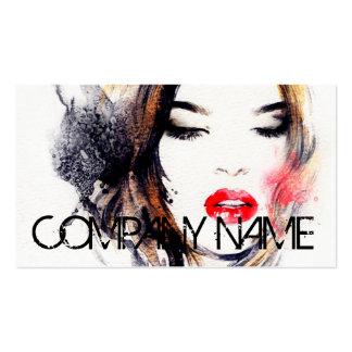 Artista de composição da cosmetologia do cartão de visita