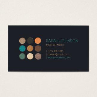 Artista de composição das amostras de folha da cor cartão de visitas