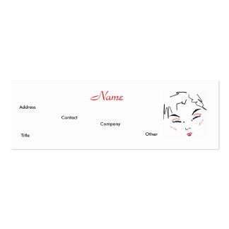 Artista de composição na moda cartão de visita skinny