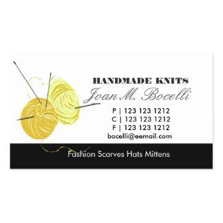 Artista de confecção de malhas do artesanato cartão de visita