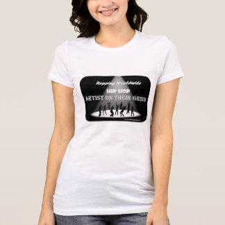 Artista de HIP HOP em seu T do jérsei das mulheres T-shirt