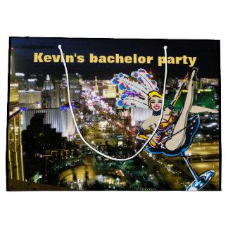 Artista de Las Vegas do despedida de solteiro Sacola Para Presentes Grande