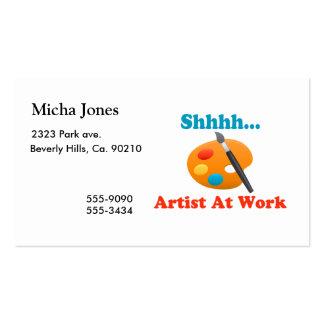 Artista de Shhhh no pintor do trabalho Cartão De Visita