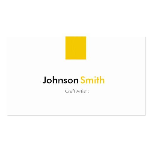 Artista do artesanato - amarelo ambarino simples cartão de visita