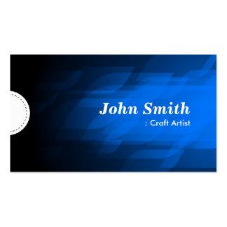 Artista do artesanato - azul escuro moderno cartão de visita