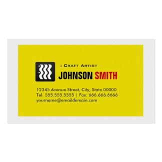 Artista do artesanato - branco amarelo urbano modelo de cartões de visita