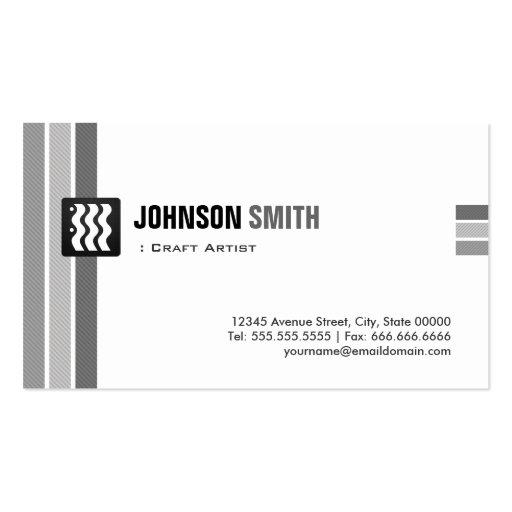 Artista do artesanato - branco preto criativo modelos cartão de visita