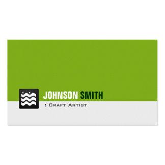 Artista do artesanato - branco verde orgânico cartão de visita